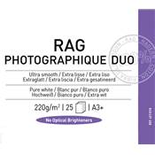 Canson Infinity Rag Photographique Duo A3+ 220g / 25 feuilles