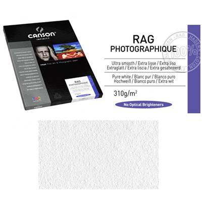 Canson Infinity Rag Photographique A4 310g / 10 feuilles