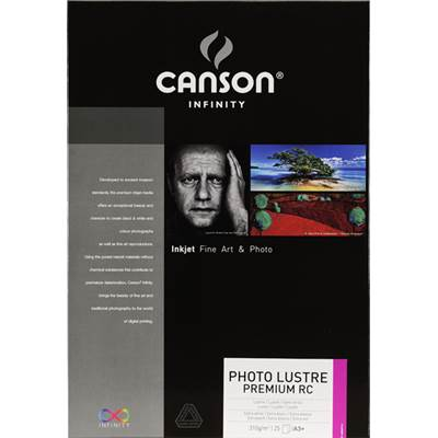 Canson Infinity Photo Lustre Premium RC A3+ 310g / 25 feuilles