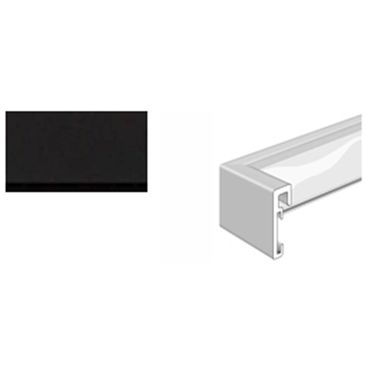 nielsen cadre alpha noir anodis mat 50x70 prophot. Black Bedroom Furniture Sets. Home Design Ideas