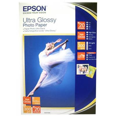 Epson Papier Photo Ultra Glacé carte postale 10x15cm 20f 300g