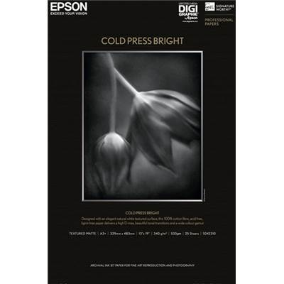 Epson Papier d'Art Cold Press Bright A2 25f 340g