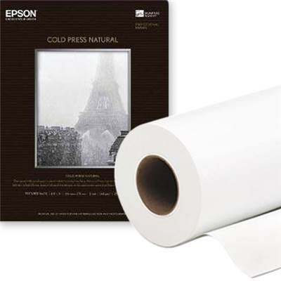 "Epson Papier Cold Press Natural Rlx 60"" 305g - Agréé Digigraphie"