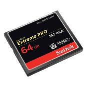 Sandisk carte Compact Flash Extreme Pro (160MO/S) 64GO