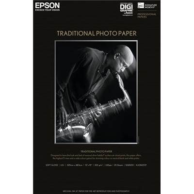 "Epson Papier Photo Traditionnel 24""x36"" 25f 330g"