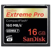 Sandisk carte Compact Flash Extreme Pro (160MO/S) 16GO