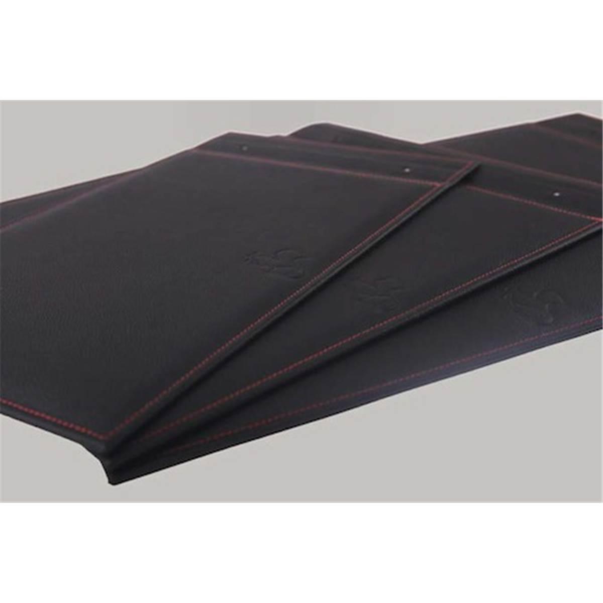 hahnem hle album photo cuir noir couture rouge a3 prophot. Black Bedroom Furniture Sets. Home Design Ideas
