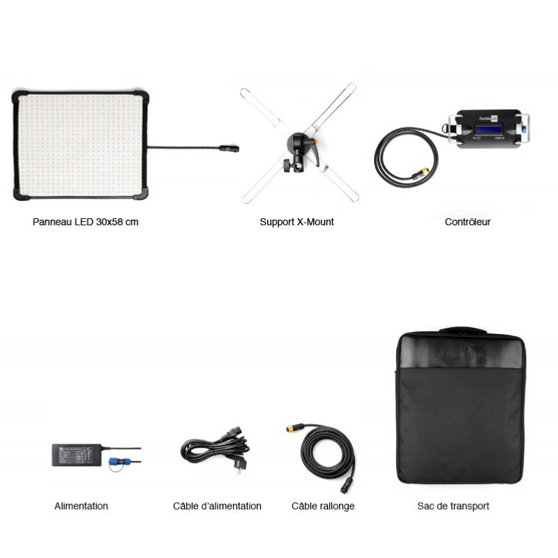 fomex kit panneau led flexible fl1200 30x58 prophot. Black Bedroom Furniture Sets. Home Design Ideas
