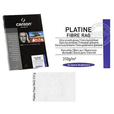 Canson Infinity Platine Fibre A4 310g / 10 feuilles