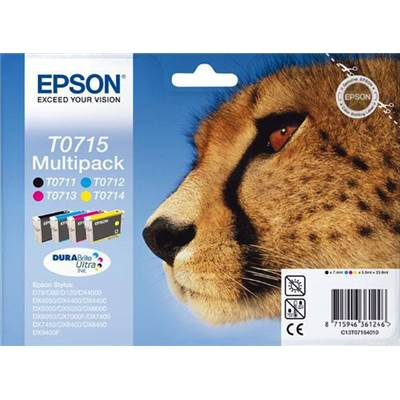 Epson Multi Pack 4 couleurs T0715 (DX-SX-BX610)