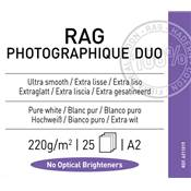 Canson Infinity Rag Photographique Duo A2 220g / 25 feuilles