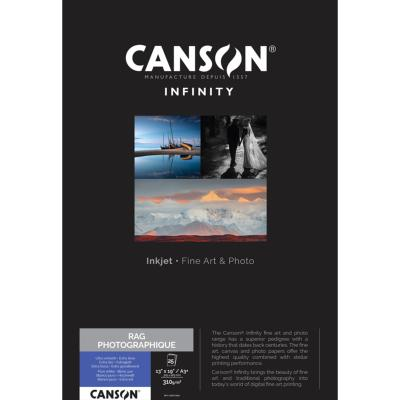Canson Infinity Rag Photographique A3+ 310g / 25 feuilles
